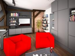 adaptacja poddasza na lokale mieszkaniowe, mieszkanie 36m2