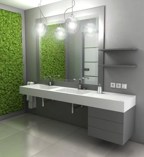 Nowoczesna łazienka W Szarościach Manufaktura Luxum E