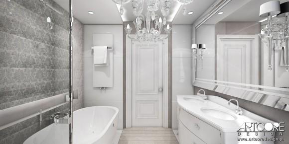 łazienka W Stylu Glamour Ewa Sadowska Wicherek E