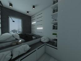 Minimalistyczne mieszkanie na Pradze
