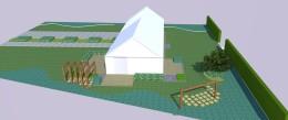 Wizualizacja - ogólny układ ogrodu