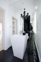 projektowanie wnętrz / aranżacja łazienki black chick