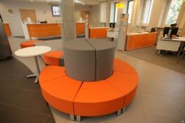 Wyposażenie wnętrz siedziby banku