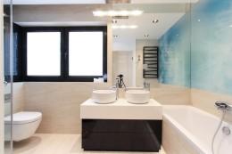 Dom w Turkusach realizacja - łazienka