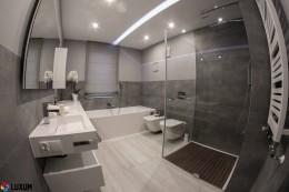 Nowoczesna łazienka w szarościach
