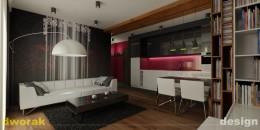 Odważny projekt apartamentu w Krakowie - 80m2