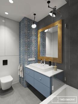 z nutą błękitu - łazienka