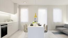 Minimalistyczne wnętrze w bieli
