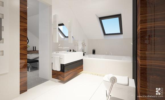 łazienka Elegancja W Drewnie I Bieli Klaudia Tworo E