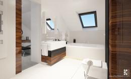 Łazienka - elegancja w drewnie i bieli
