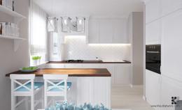 Mieszkanie w stylu amerykańskim - Kuchnia