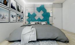 Sypialnia z kroplą mięty.
