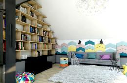 Biblioteka - kolorowy mix.