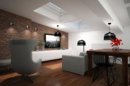 apartament na poddaszu- salon