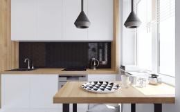 Mieszkanie z elementami drewna