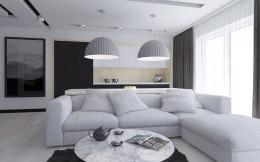 Nowoczene, minimalistyczne mieszkanie
