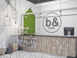 Koncepcja wnętrza sklepu z wyposażeniem dla domu