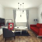 Mieszkanie - czerwone dodatki