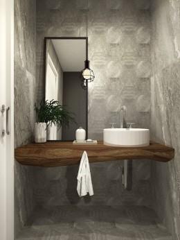 Projekt WC w domu szeregowym w Opole 2016.