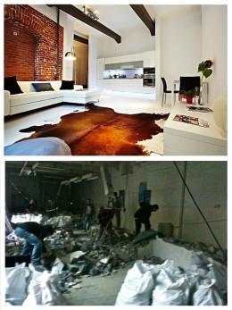 Biały loft. Projekt 2009