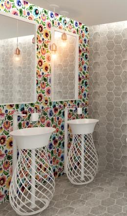 Folklorystyczna łazienka