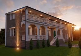 Dom w stylu kolonialnym pod Łodzią