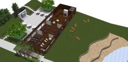 Zagospodarowanie terenu zieleni i wnętrza restauracji Korona