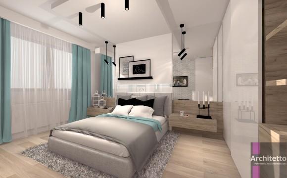Sypialnia Z Dodatkiem Mięty Studio Architetto E Aranżacjepl