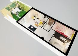 Projekt małego mieszkania. 2015