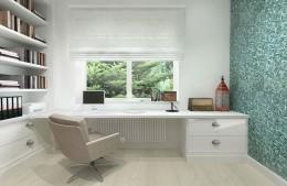 Gabinet/pokój gościnny w domu pod Warszawą
