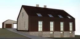 Projekt modernizacji domu z lat 50