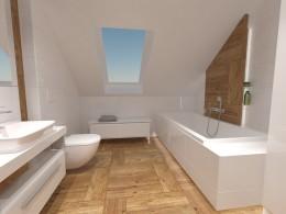Łazienka na poddaszu jasna i przestronna