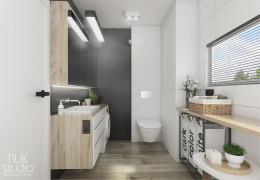 Łazienka w domu jednordzinnym