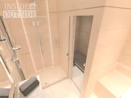 Elegancka łazienka z sauną