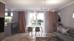 Mieszkanie z elementami glamour