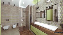 Design zieleń łazienka