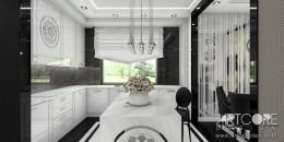 Projekt kuchni glamour