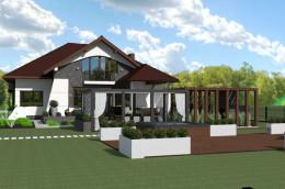 Projekt elewacji oraz otoczenia domu