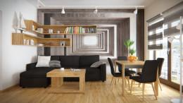 Przytulne wnętrze mieszkania w Warszawie
