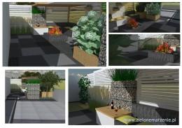 Projekt ogrodu w stylu nowoczesnym