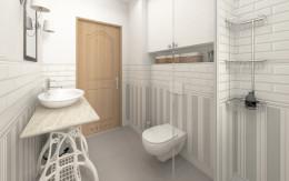 klasyczna łazienka w domu jednorodzinnym