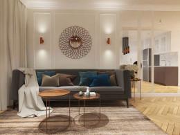 Projekt koncepcyjny apartamentu w Krakowie