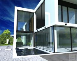 Projekt nowoczesnego domu w Konstancinie