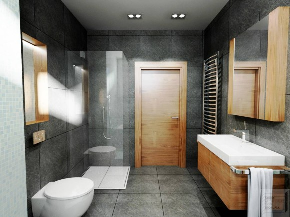 Projekt I Aranżacja Wnętrza łazienki Skorupski Studio E