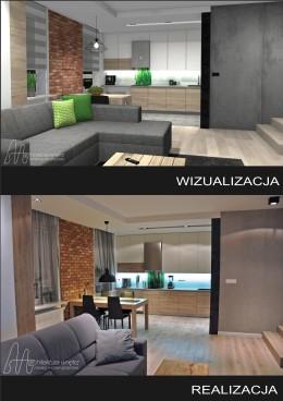 Projekt mieszkania na Ursynowie - 99 m2