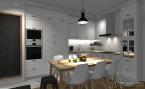 Projekt mieszkania na Mokotowie - 45 m2