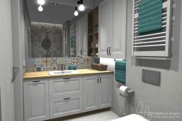 Projekt łazienki - 4,88 m2