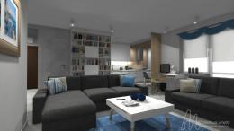 Projekt mieszkania na Kabatach - 64 m2