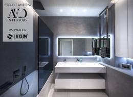 Nowoczesna łazienka z umywalką na wymiar.