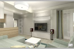 Projekt mieszkania 59,23 m2 pod klucz Warszawa Żoliborz